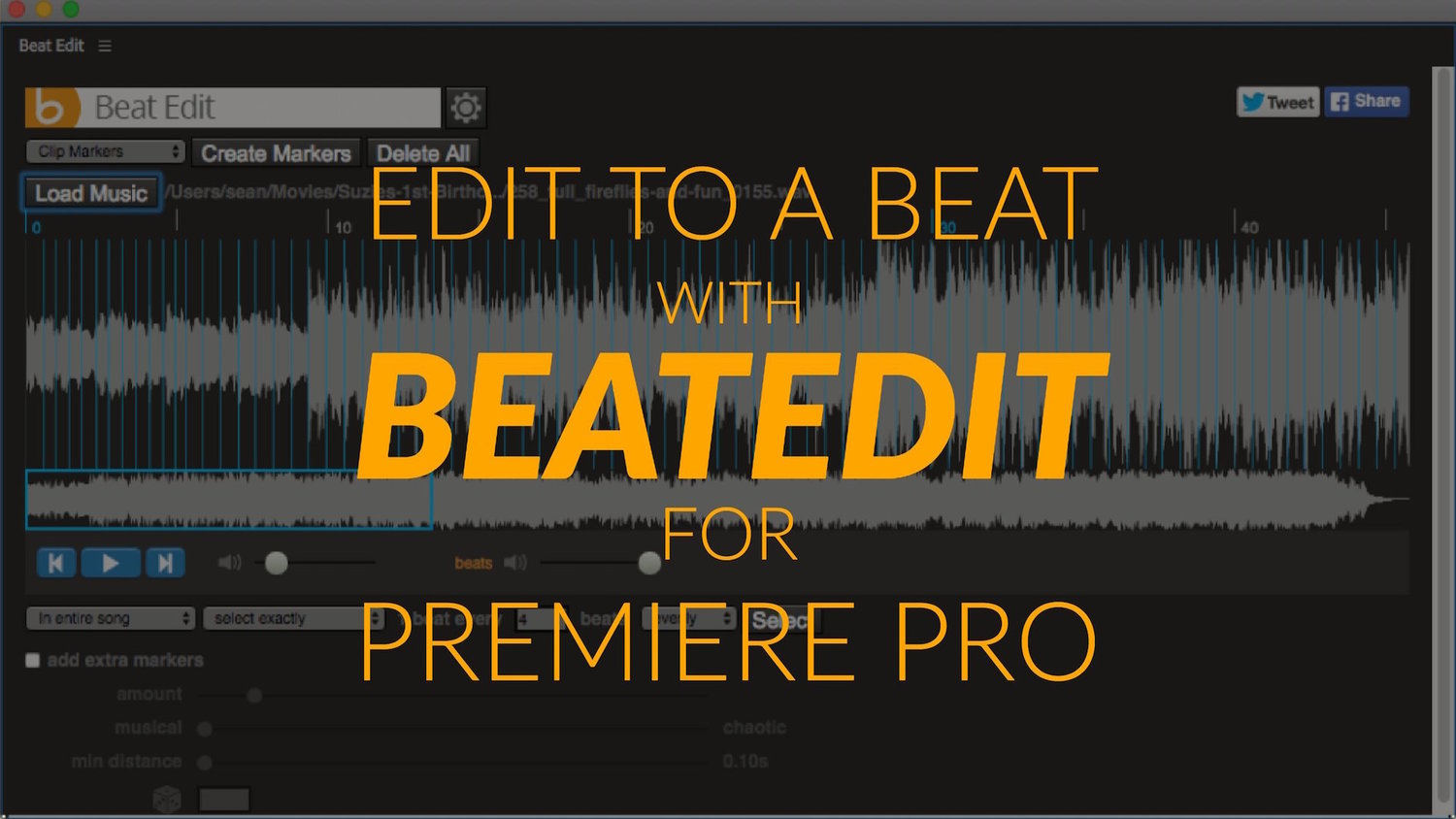 Edit to the Beat with BeatEdit for Premiere Pro — Premiere Bro