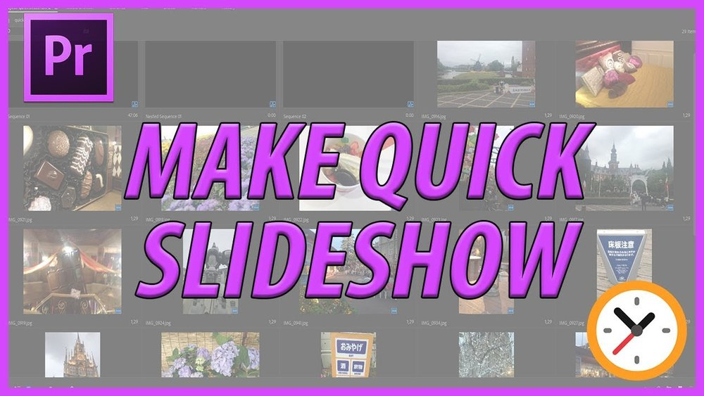 Adobemasters how to quickly make a slideshow in adobe premiere pro adobemasters how to quickly make a slideshow in adobe premiere pro ccuart Image collections