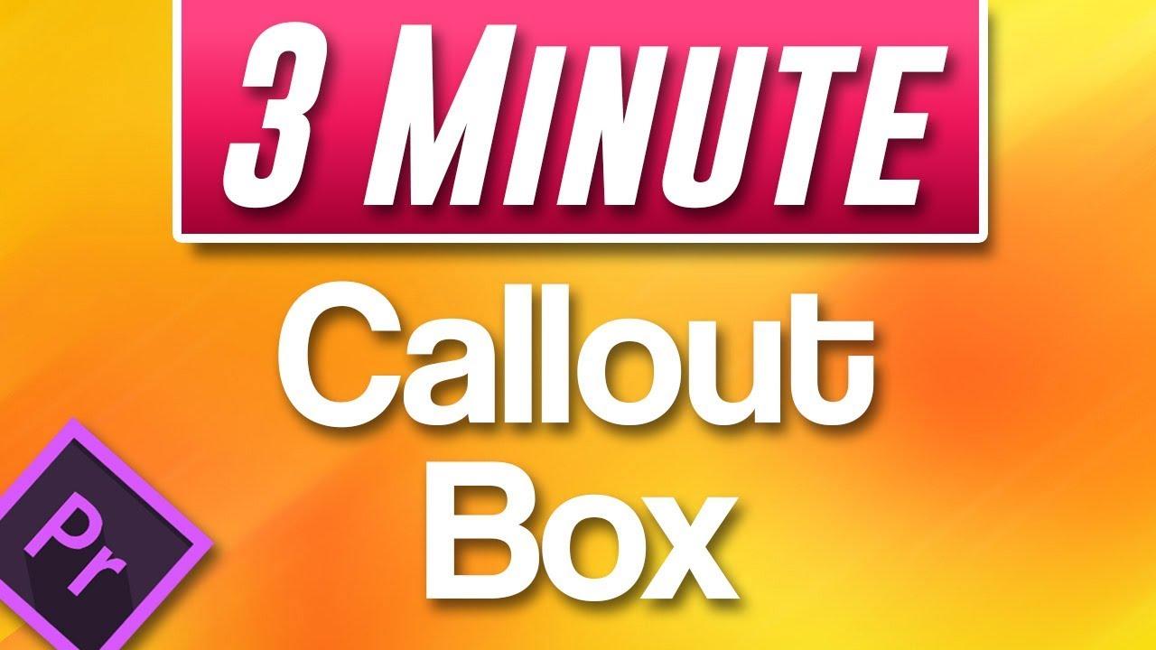 Callouts — Premiere in Post — Premiere Bro