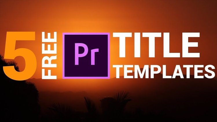 Orange83: 5 Pack Free Modern & Clean Title Templates for Premiere ...