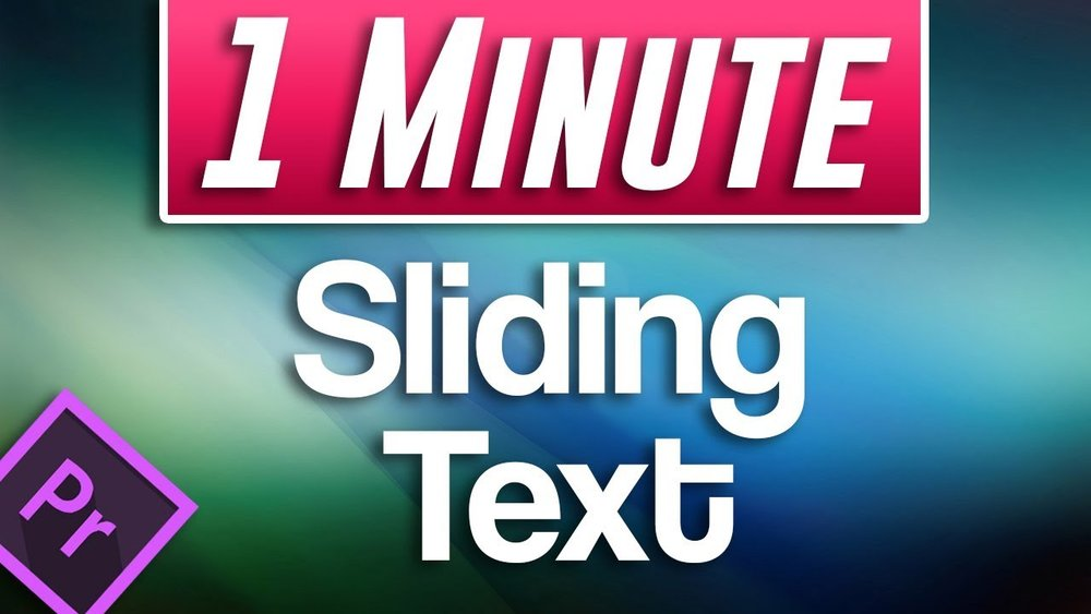 Adobe in a minute how to make smooth moving sliding text in adobe in a minute how to make smooth moving sliding text in premiere pro ccuart Image collections