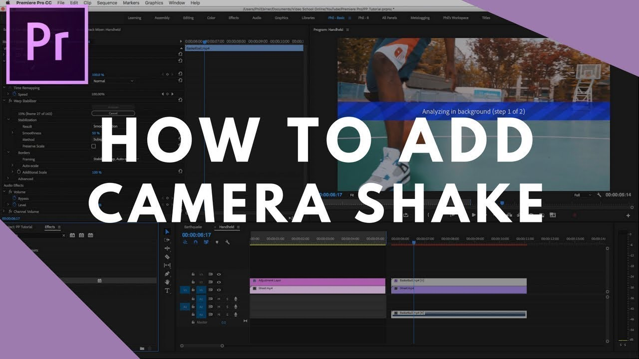 Video School Online: How to Add Camera Shake in Premiere Pro