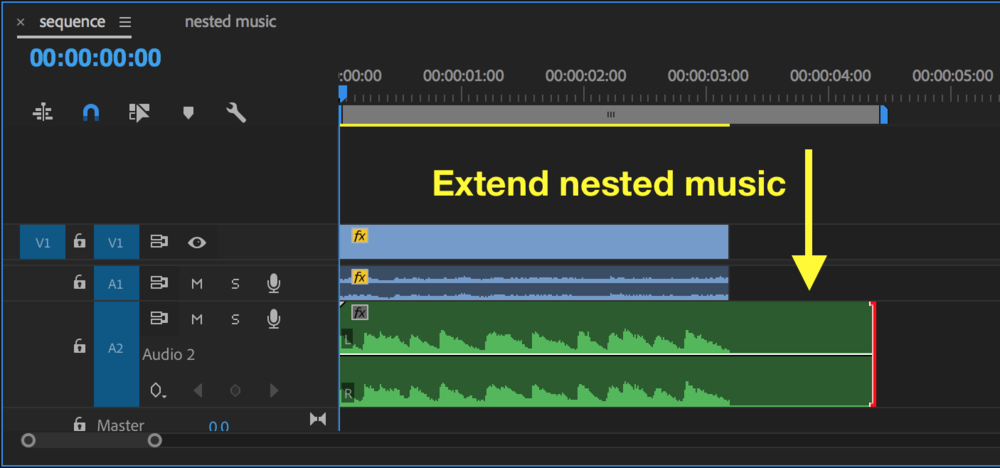 Extend nested music and apply reverb effect