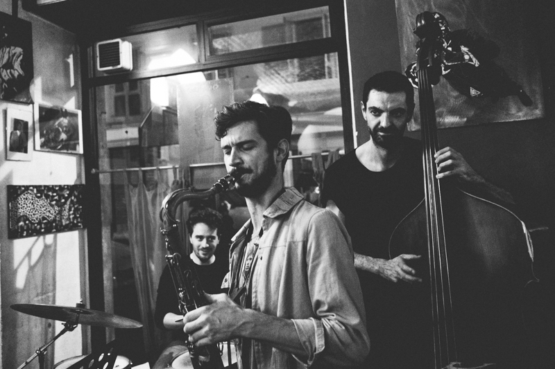 photo taken by Elena Bellova at Charlie Bird Torino.  Ruben Bellavia on drums and Marco Piccirillo on bass.  Fabiano Giachino on piano is not pictured here, but there are plenty on Elena's blog post.  All photos are property of Elena Bellova.