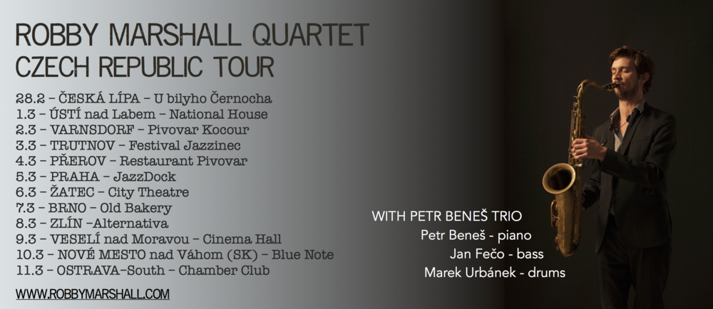 Robby Marshall Quartet Czech Rebuplic flyer