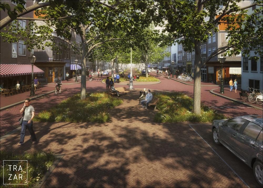 artist impression van openbare ruimte, herinrichting en publieke