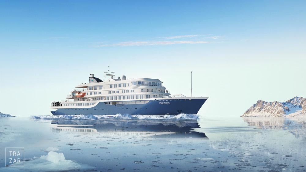 Impressie van het exterieur van  cruise schip Hondius - exterior artist impression nautic (13).jpg