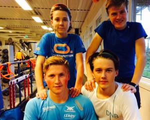 4/5 deler av ASK`s juniorteam 2015/16: Kyrre/Håkon/Marius og Allan (foto: B.Kroken)