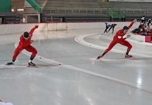 Simen og Jørgen i starten på 500m (Foto: PO Linnestad)