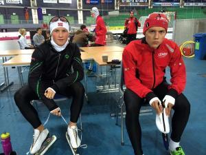 Marius og Allan på juniorlaget til NSF