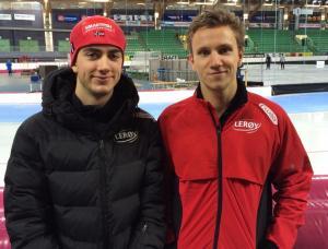 Jørgen og Simen leverte gode 500m tider