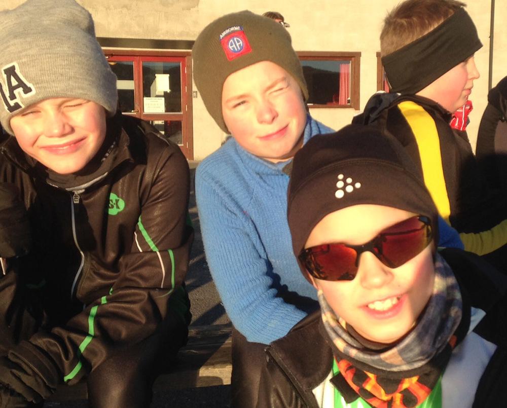 Tinius, Linus og David (Foto: Gaute Andresen)