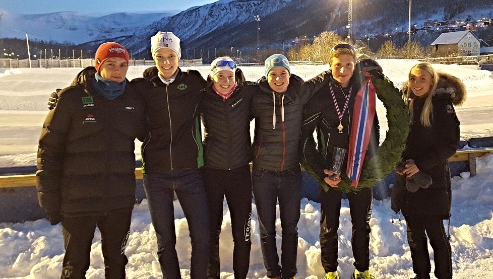 """Her er ASK gjengen som """"herjet"""" i Tromsø: Allan, Thomas, Ragne, Håkon, Marius + Camilla (foto. K.Stiansen)"""