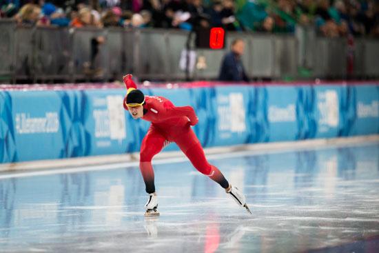 Allan under avslutningsrunden i mixed lagsprintkonkurransen. (Foto: Jostein Vedvik)