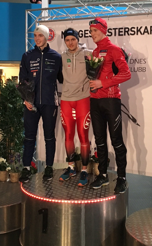 Allan vinner 3000m foran Engebråten og Haugli.