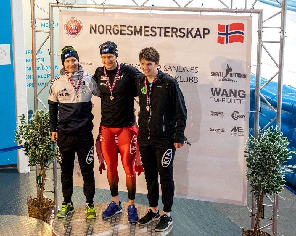 Allan (t.h.) nr 3 på 1000 m.    (Foto: Per allan Johansson)