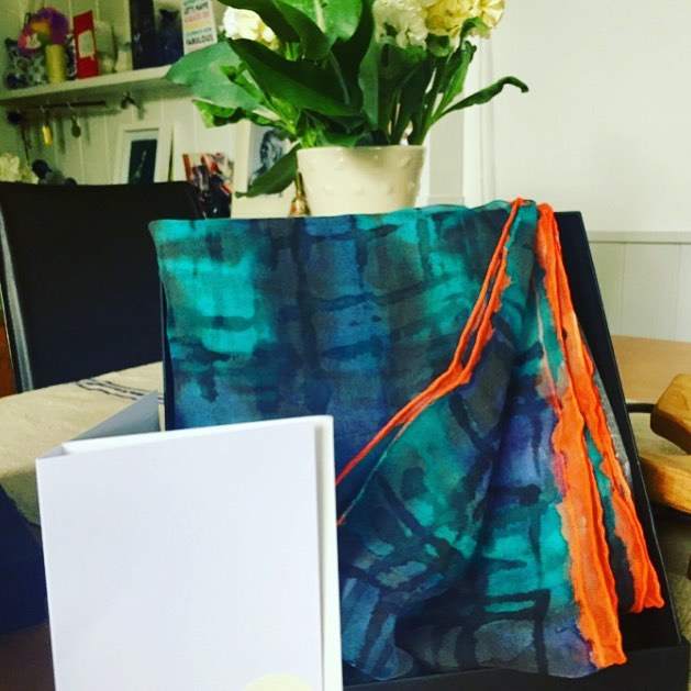 We #LOVE seeing where our scarves go & getting lovely customer feedback! Thankyou @caro2359 for your very kind words!... 'Love when exciting packages arrive especially when they are beautifully packaged and the contents are sooo gorgeous thank you @harlig_life love them ❤️💙💛💚💜' #HarligLife #HarligHappenings . . . #samplesale #accessories #summer #happy #slowfashion #gift #present #silkscarf #love #fashion #pattern #style