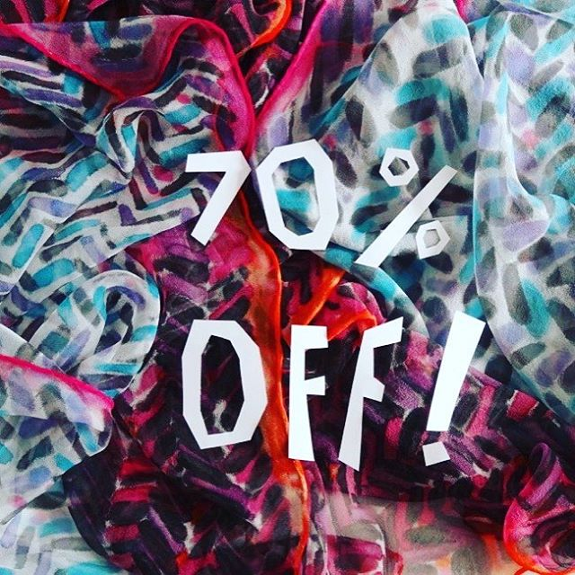 70% off handpainted neckerchief samples... usually £65 RRP, now £19.50.... bag a bargain that includes free UK shipping & Harlig packaging 🛍🎀🛍 Almost all handpainted samples have sold out so grab whilst you can! #HarligLife #HarligHappenings . . . #sale #fashion #samplesale #love #summer #holiday #pattern #colour #British #silk #scarves #scarf #luxury #London #cute #happy #design #textiles #silkscarf #pink #blue