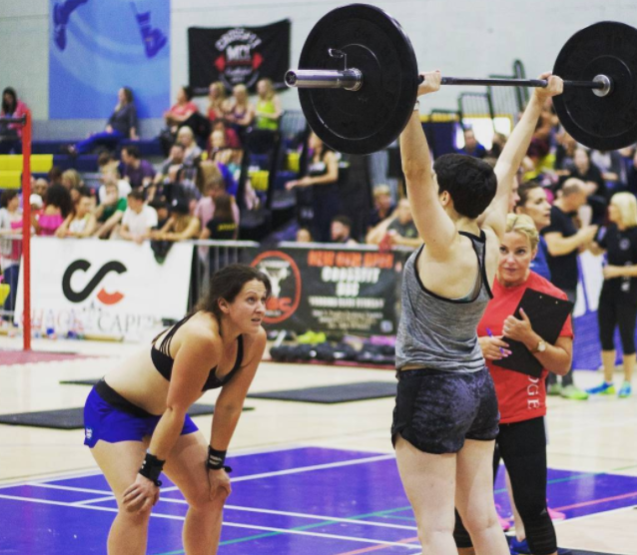 My first competition with my CrossFit sister Georgia.