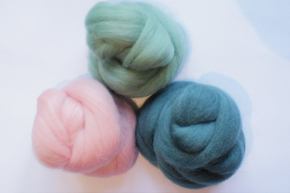 Three of the new merino colours.