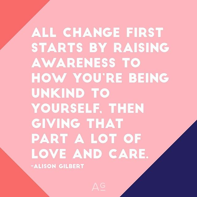 Entrepreneurship is growth. And growth comes from change. Change comes from first raising awareness to the ways we need to be kinder to ourselves, then giving those parts love and care. And THEN taking the next steps from there. ✨