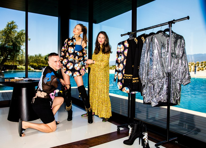 4c9ed963986 Vogue Runway  Exclusive  Moschino and H M Are Collaborating—And Out in Palm  Springs