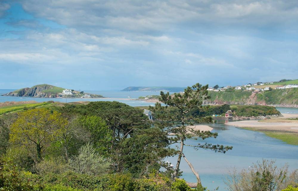 View from Bantham Village Stores & Terrace