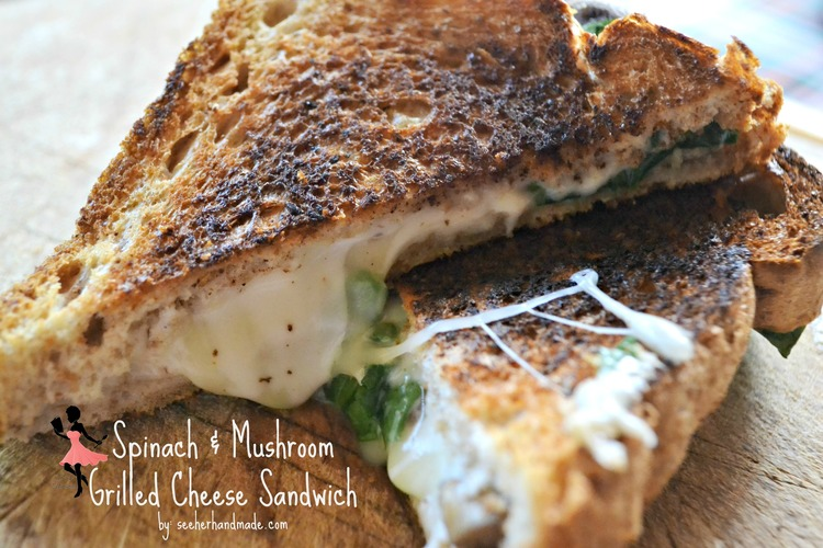 Can you believe that grilled cheese is so awesome, it gets its own month?! But even better, than a traditional girlled cheese, I added a cool, filling twist. Trust me, this is not your mama's grilled cheese! It's fresh, fun and cheesy! It's a great combination of flavours. Imagine a spinach dip between two buttery slices of bread. Absolute bliss!