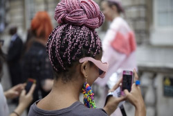 10. Why not go bold with pink hair? I love this look and might even try it.