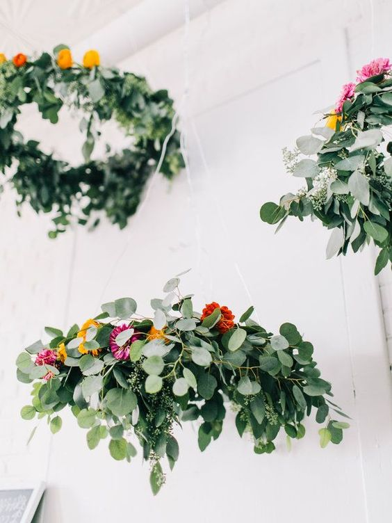 3. Turn the flower power to the max with this DIY: Flower Chandelier, perfect for party decor or above the dinner table for a special get together! |  PROJECT WEDDING