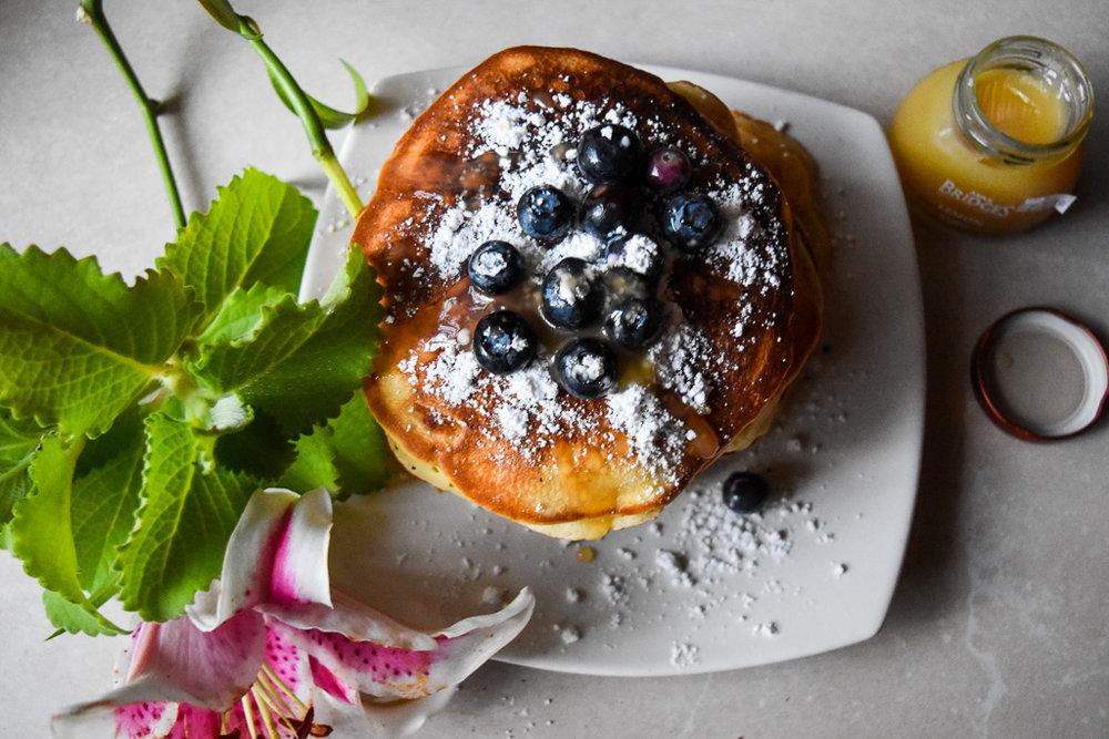Lemon Cheesecake Pancakes with Lemon Curd and Fresh Blueberries 1.jpg