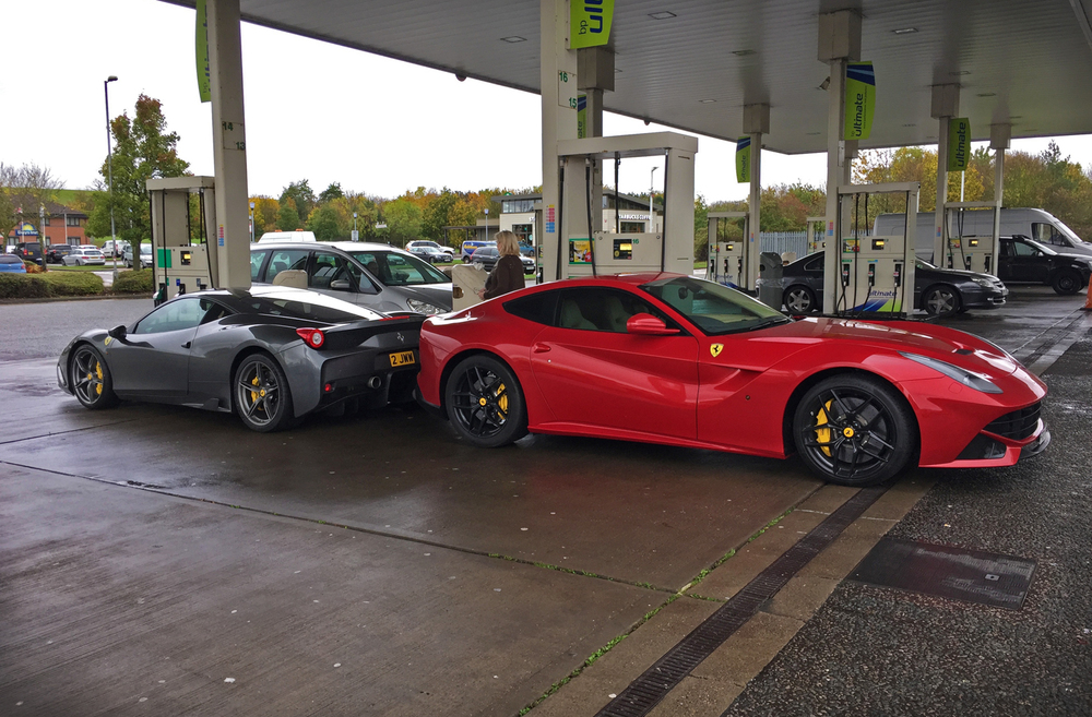 The things you have to do for super unleaded!