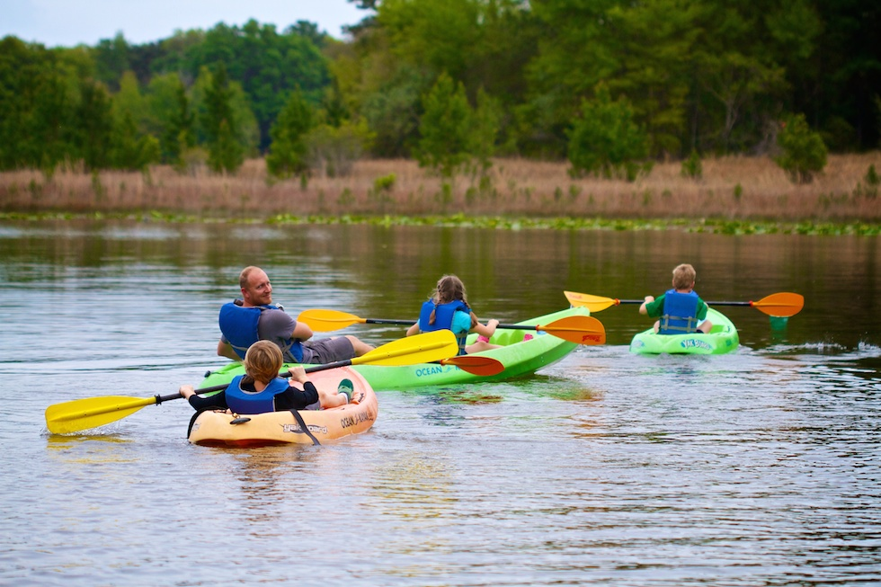 Family Camp canoes