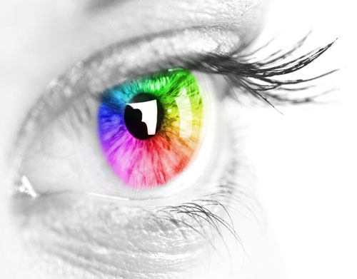 seeing mindfulness respect eye rainbow