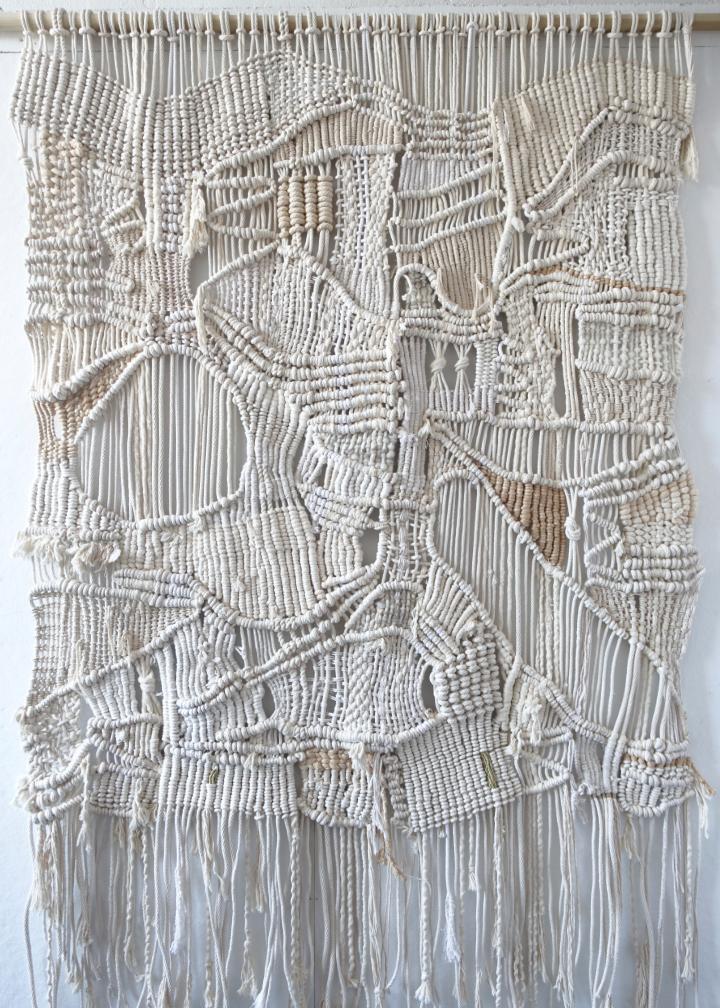 Oversized Macrame Wall Hanging + Weaving
