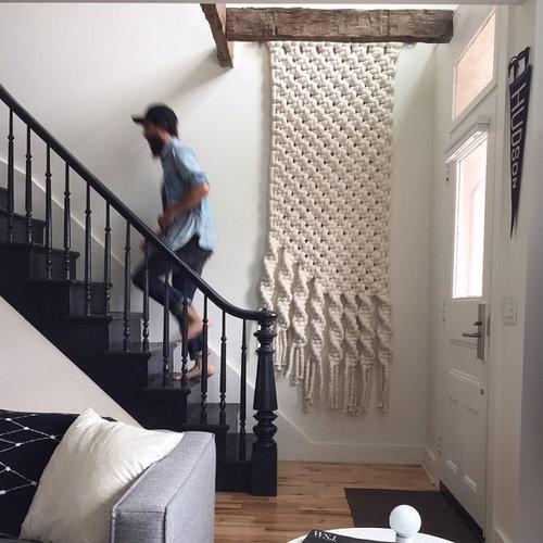 rustic contemporary stairs macro macram