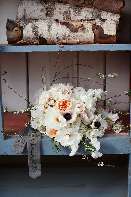 Sullivan-Owen-Alison-Conklin-Terrain-Winter-Wedding-Bridal-Bouquet-Anemone-Spirea-GardenRose-Julie-SweetPea