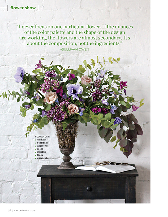 Sullivan-Owen-FlowerMagazine-April-2015-Spring-Feature-Philadelphia-Wedding-Florist-Lavender-Anemone-Lilac-Plum