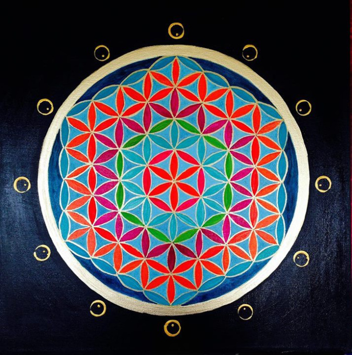 """Flower of Life, Scotland"" 24"" x 24"""
