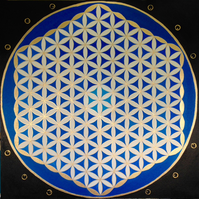 """Marketa's Flower of Life"" 30"" x 30"""