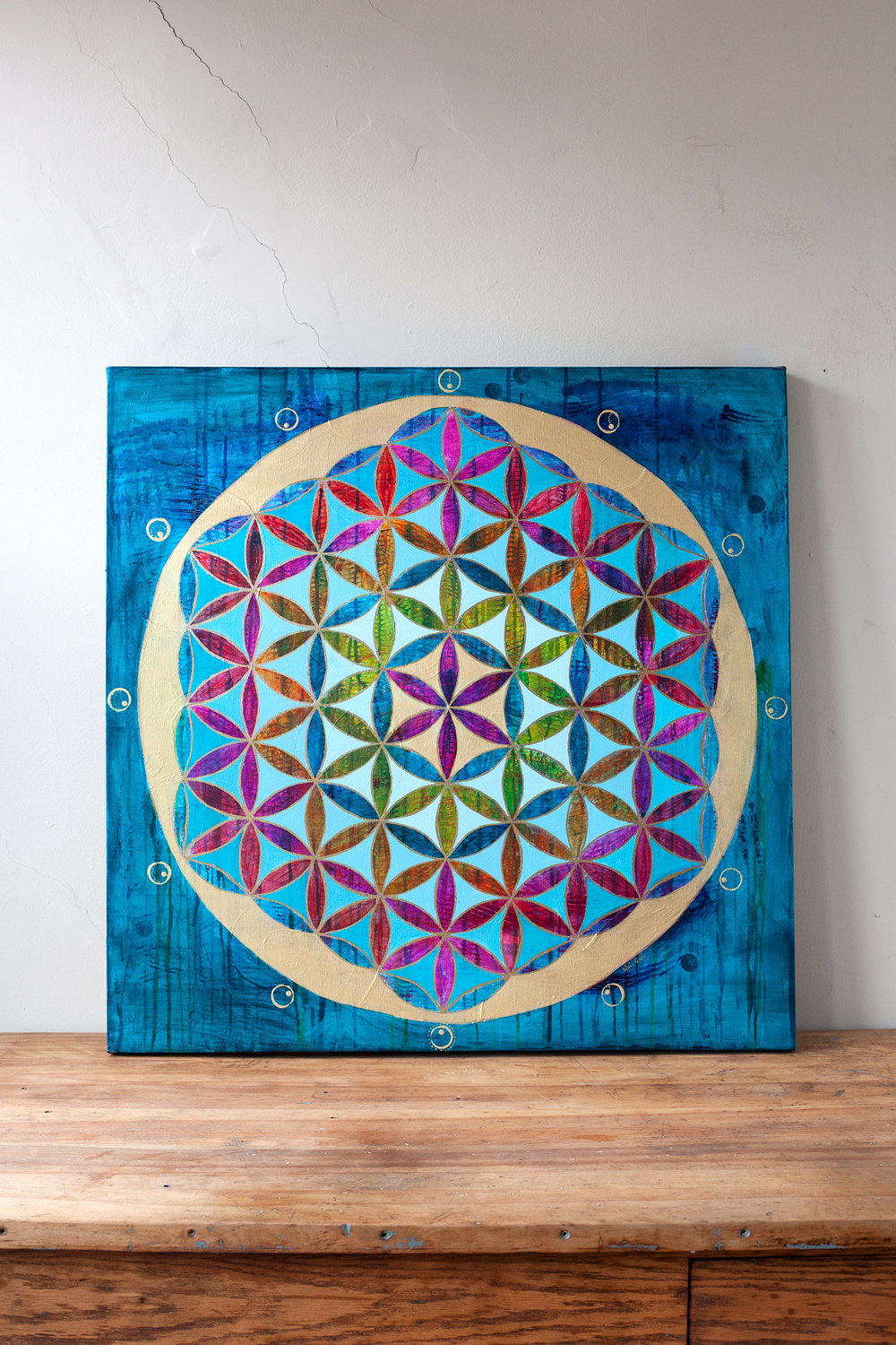 """Grand Flower of Life"" 30"" x 30"""