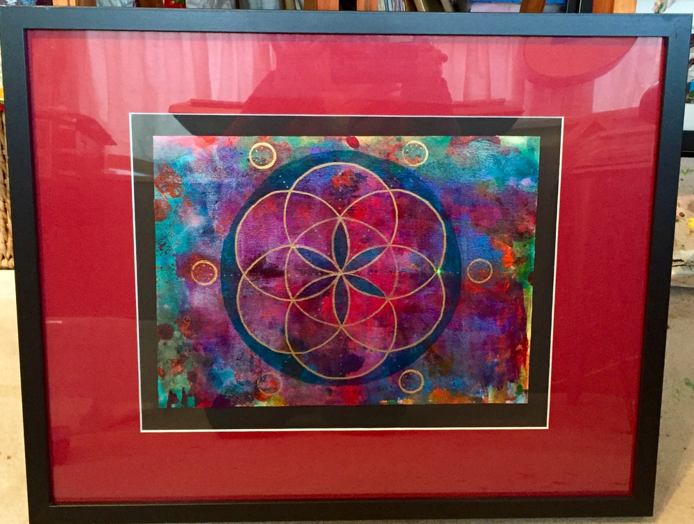 """Seed of Life 29"" Framed 16"" x 20"""
