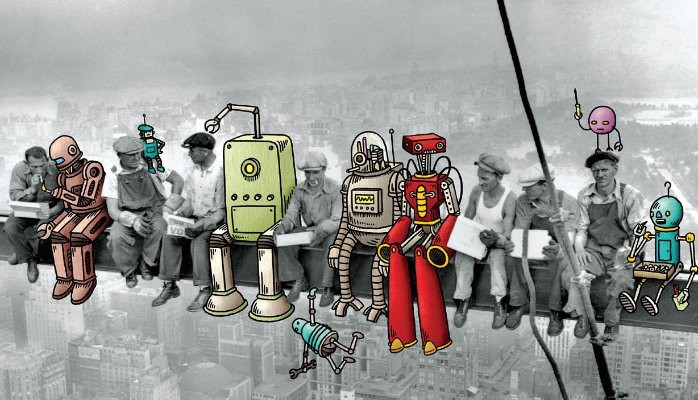 Nobody wants robots to take up their jobs, not in the near future. Image source:  The future of Architecture