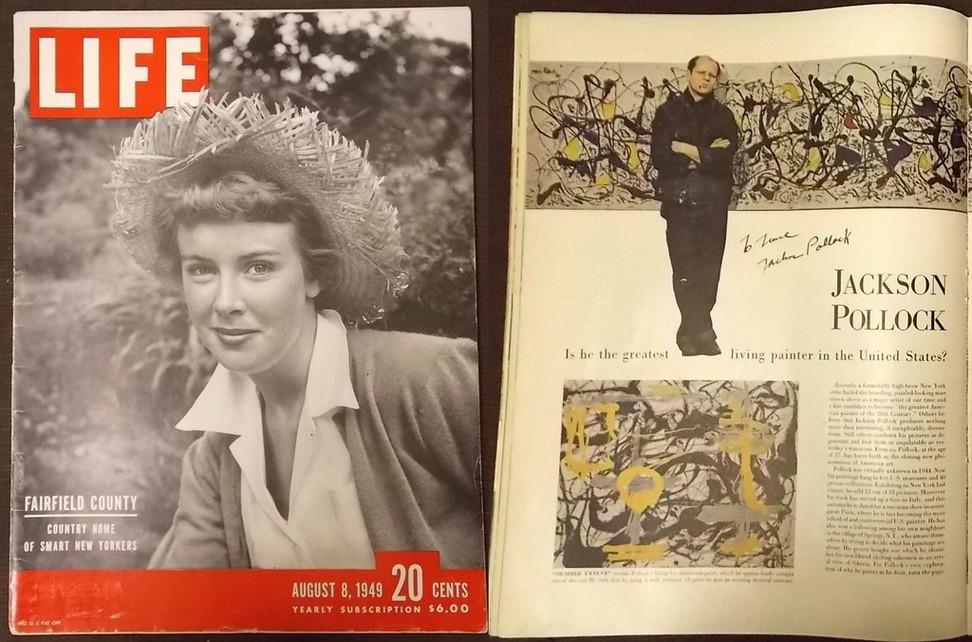 LIFE magazine called Jackson Pollock artist of the century