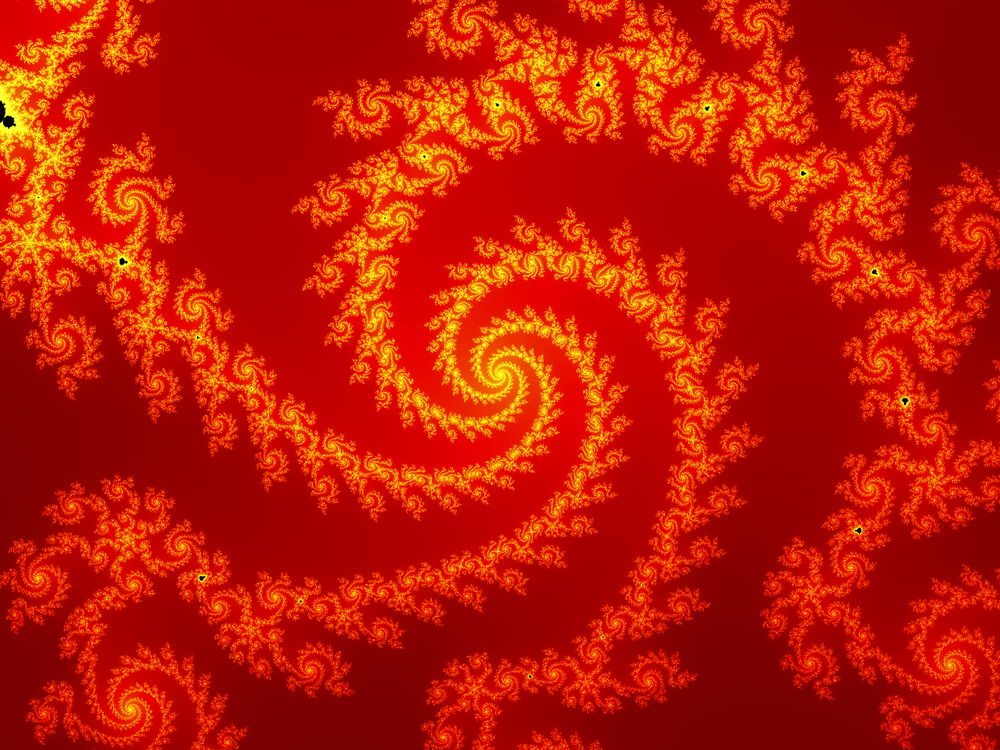 Another sample from the Mandelbrot set, with slightly different rules but the same shapes deriving a completely new picture