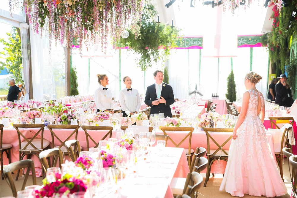 VAN WYCK A Bride And Groom Steal A Peek At The Dining Room Table Setting At