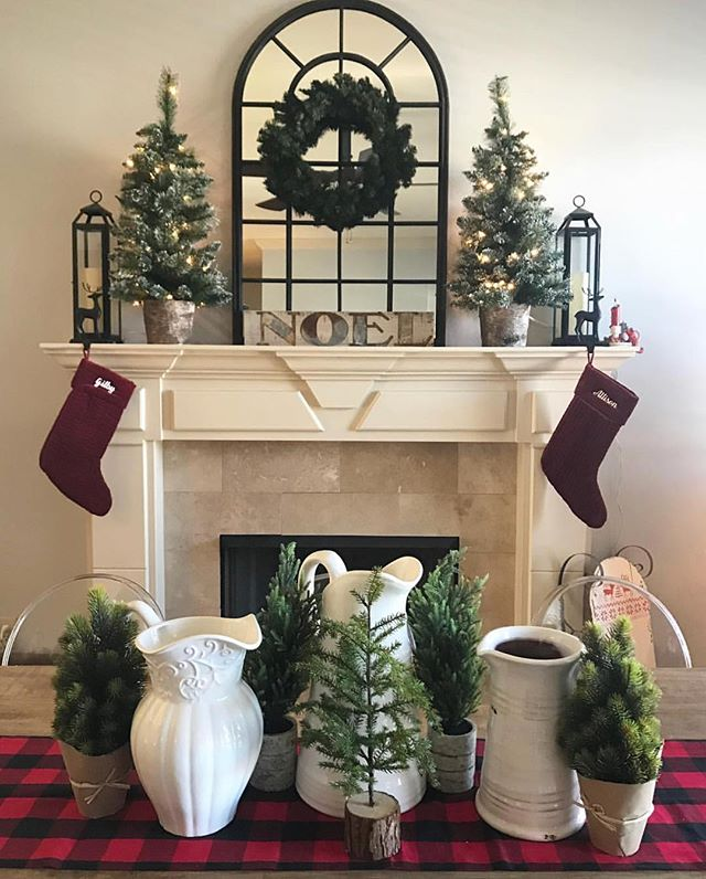 It's officially beginning to look a lot like #christmas ! We love seeing all the unique ways! @home.sweet.ellis.home has done a fabulous job don't you think? That pretty little piece of pottery in the bottom right is ours and we think it's just perfect! Who else is using @nest_decor to style for the holidays??