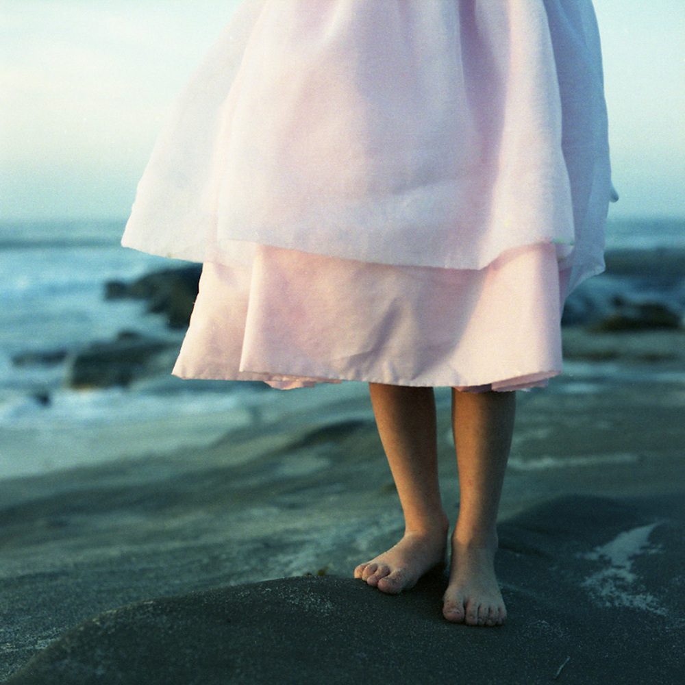 Pink Dress and Sunset | San Diego Family Beach Photography