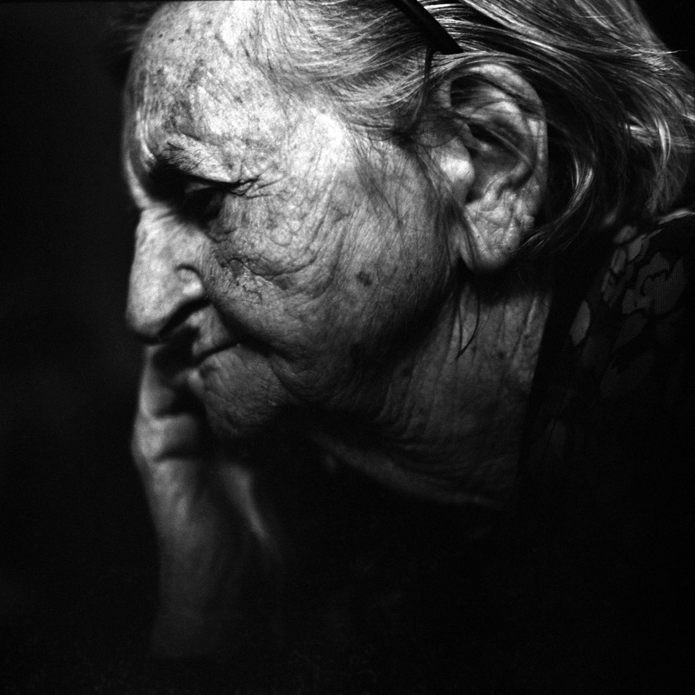 Time Passing, Stunning Portrait of a Senior Woman
