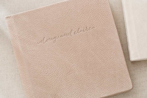LEATHER COVER WITH DEBOSSING